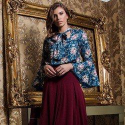 blusa gola laco principessa evelise visual moderno