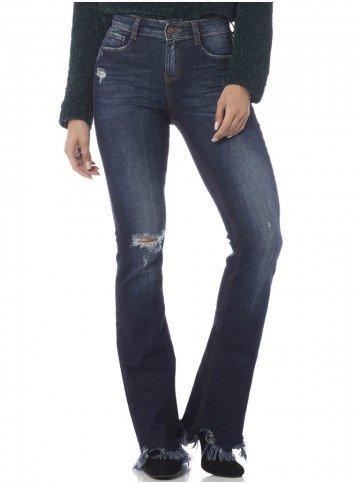 calca jeans feminina estonada frente