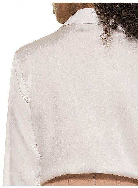 ddc416ccb4 ... camisa feminina seda adele costas detalhe  camisa manga longa seda off  principessa ...