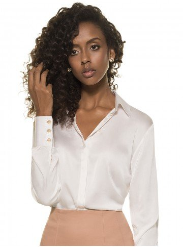 camisa feminina seda adele frente