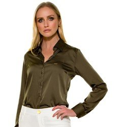 camisa feminina cetim daiana frente