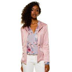 blusa transpassada floral lilas evania frente mini geral