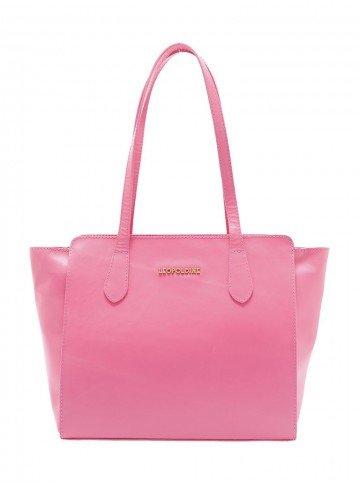 bolsa feminina rosa leopoldine violet frente