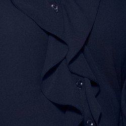 camisa marinh babados principessa juliana tecido detalhe