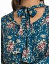 blusa social floral com gola laco principessa evelise look completo