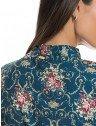 blusa social floral com gola laco principessa evelise placa