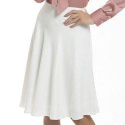 saia lucila off white frente tecido