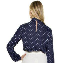 blusa gola alta poa marinho principessa ohana modelagem