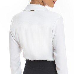 camisa branca com babado principessa helena social modelagem