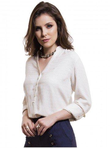 blusa feminina decote v principessa rayane frente