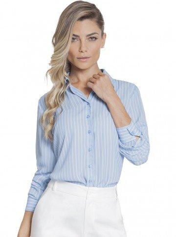camisa feminina listrada principessa silvana