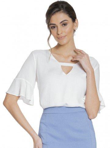 blusa off white principessa eudora frente