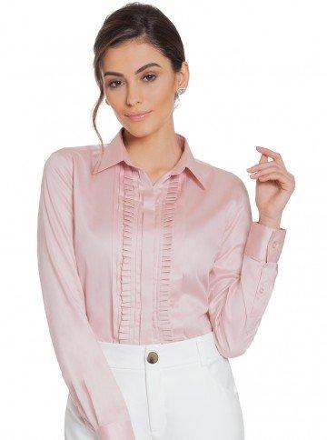 camisa drapeado rose principessa glenda frente