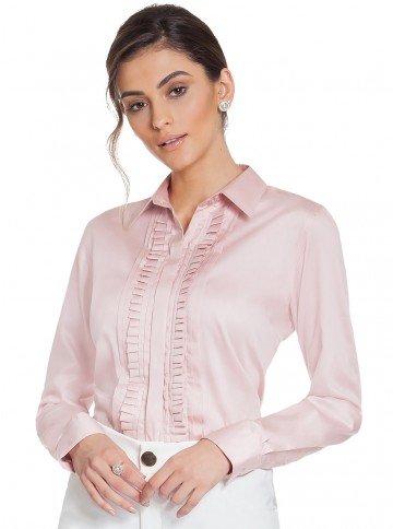 camisa drapeado rose principessa glenda frente 0