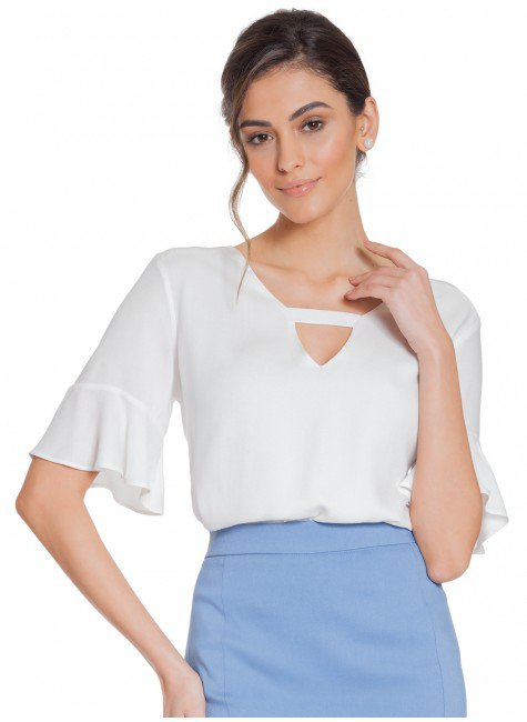 blusa off white manga gode principessa eudora frente