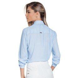 camisa listrada azul principessa silvana costas modelagem