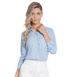 camisa listrada azul principessa silvana frente GERAK