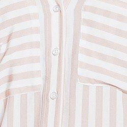 camisa listrada off nude principessa carlota botoes