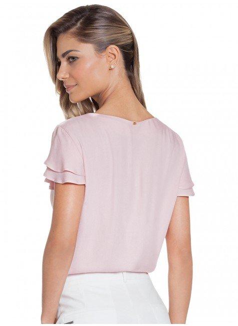 28addcca84 ... blusa feminina manga com babado rose principessa veridiana costas ...