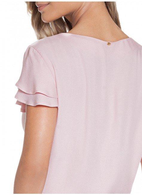 0be693e4f ... blusa feminina manga com babado rose principessa veridiana costas  detalhe ...