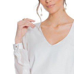 blusa off white manga transparente principessa ravena detalhes harmonicos