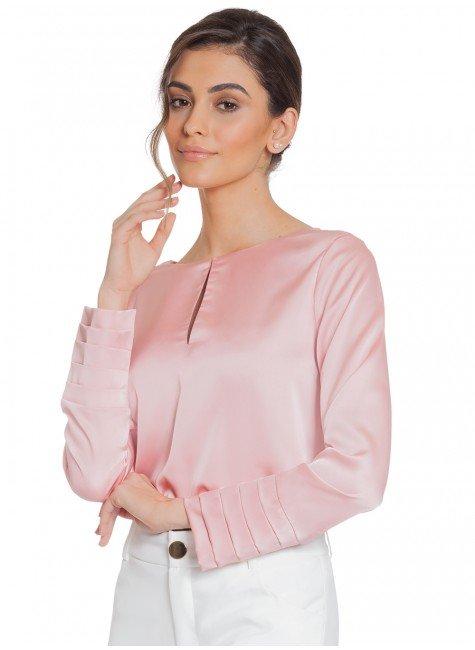 blusa cetim drapeado principessa silmara frente