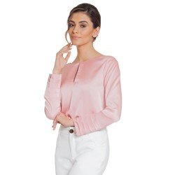 blusa cetim drapeado principessa silmara geral