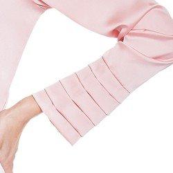 blusa cetim drapeado principessa silmara MANGAS