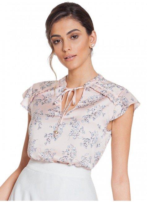acb18ecad ... blusa floral rose principessa alaiane frente 2 ...