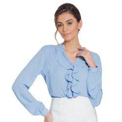 camisa azul babados principessa zoraide geral