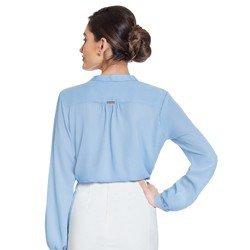 camisa azul babados principessa zoraide modelagem