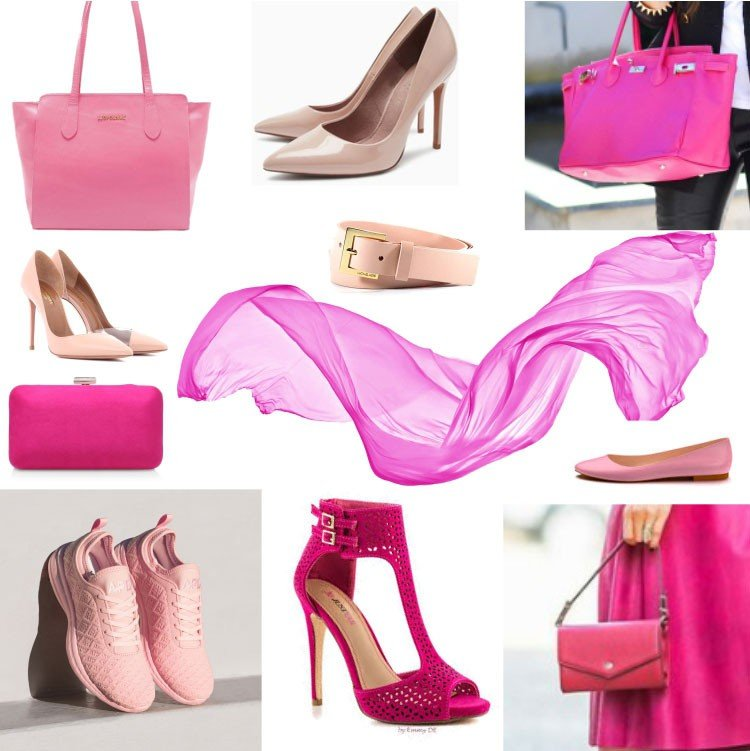 acessorios cor de rosa