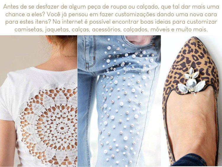 customizacao de roupas e calcados
