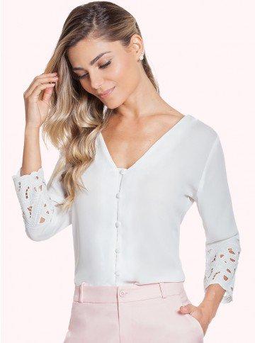 camisa bordado principessa adriele frente rosa