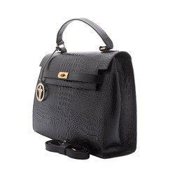 bolsa couro preto alexia geral