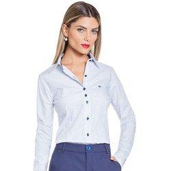 camisa social azul principessa mariah geral