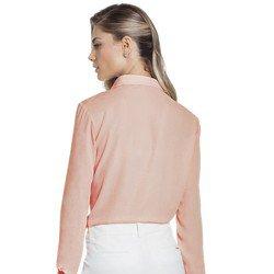 camisa rosa bebe plissado principessa lucineia frente modelagem