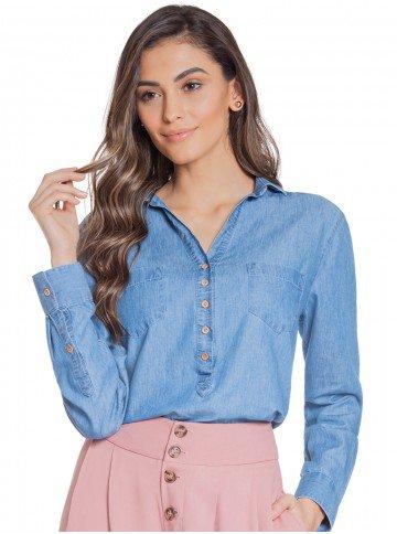bata jeans manga longa principessa jorgina frente