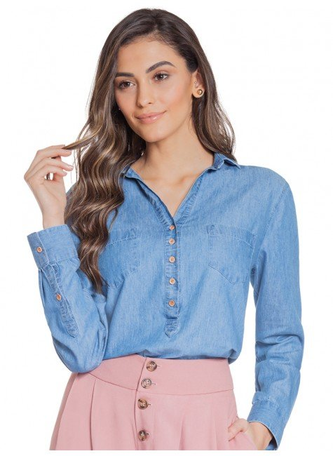 2ae404213f bata jeans manga longa principessa jorgina frente