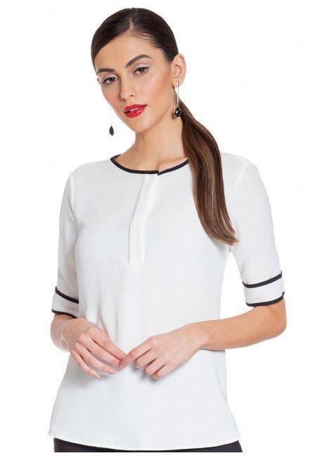 blusa off white principessa doroteia frente