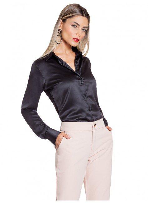 86eb506a16 ... camisa cetim preto principessa alba frente total ...