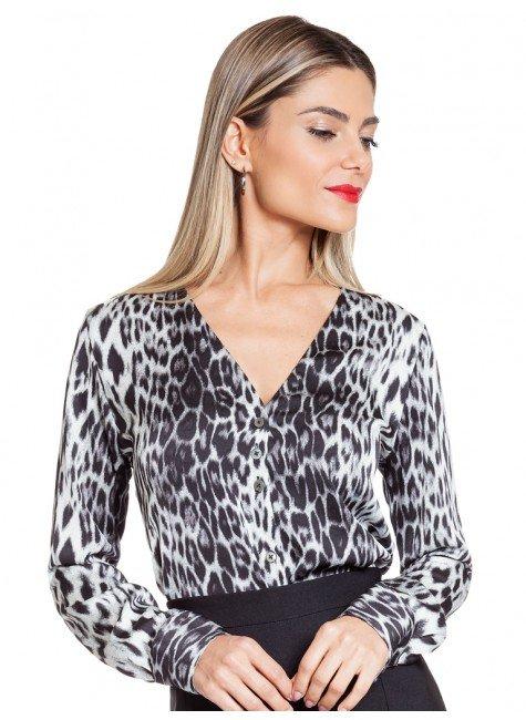 camisa animal print principessa lucinda frente