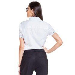 camisa social branca principessa crislaine modelagem