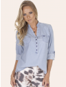 blusa jeans principessa desiree frente com fundo