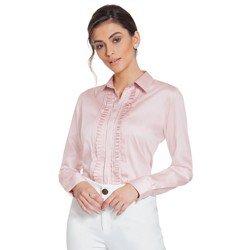camisa rose drapeado principessa glenda geral