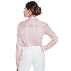 camisa rose drapeado principessa glenda modelagem