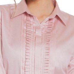 camisa rose drapeado principessa glenda drapeados