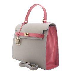 bolsa feminina alexia cinza rosa