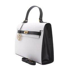 bolsa feminina alexia branca preta