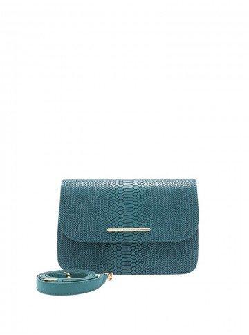 bolsa couro legitimo verde bella dine leopoldine frente
